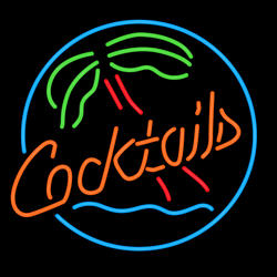 Cocktails Tree Neon Sign
