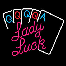 Lady Luck Neon Sign