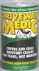 """Driveway Medic 6"""" x 9' Self-Adhesive Asphalt Repair Fabric"""