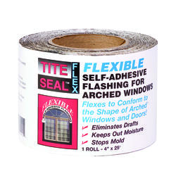"Tite Seal Flexible Self-Adhesive Flashing Tape 1-Roll 4"" x 25 ft."