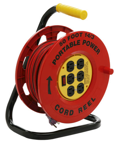 50' 6 Outlet Cord Reel with 14/3 Cord at Menards®