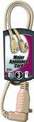 Coleman Cable 14-3, 3', Indoor Appliance Cord Beige