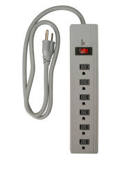 Coleman Cable 6 Outlet, 750 Joules Home or Office Surge Protector Strip