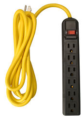 Coleman Cable 6 Outlet Workshop Power Strip with 8' Cord
