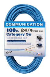 Coleman Cable CAT5E Data Cable, 100'