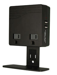2 Outlet, 450 Joules USB Surge Protector Wallmount