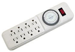 Smart Electrician 8-Outlet Power Strip w/Mechanical Timer