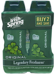 Irish Spring Original Body Wash Twin Pack - 15 oz ea