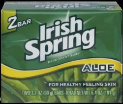 Irish Spring Aloe Deodorant Soap - 2-pk