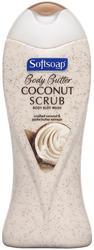Softsoap Body Butter Coconut Scrub Body Buff Wash - 15 oz