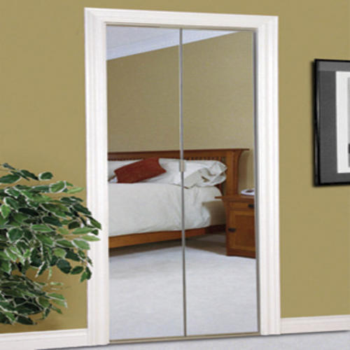 Mirrored Bifold Doors : Colonial elegance beveled quot steel frameless