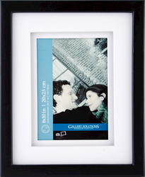 "Pinnacle 8"" x 10"" Black Matted Picture Frame"