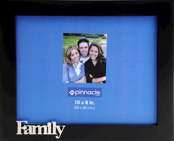 "Pinnacle 10"" x 8"" Black ""Family"" Desk Picture Frame"