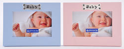 """Pinnacle 6"""" x 4"""" Pink or Blue """"Baby"""" Desk Picture Frame"""