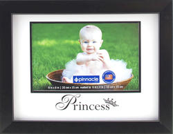 "Pinnacle 8"" x 6"" Black Matted ""Princess"" Picture Frame"
