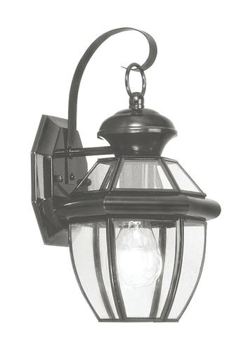 Flat Glass Wall Lights : Photon 1-Light 12.5 Black Incandescent Outdoor Wall Lantern With Clear Flat Glass at Menards