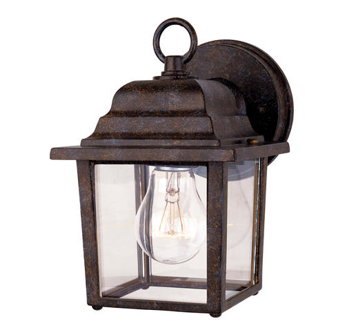 Photon 1-Light 9 Rustic Bronze Fluorescent Wall Mount Lantern With Clear Beveled Glass at Menards