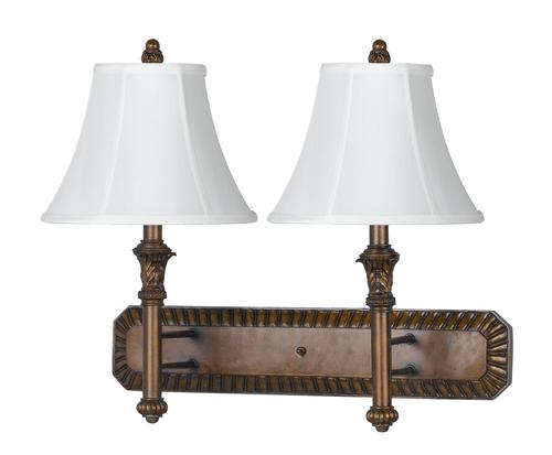 Menards Indoor Wall Sconces : Photon 1-Light 14 Antique Gold Incandescent Wall Sconce With White Fabric at Menards