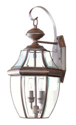 Photon 2-Light 20.25'' Imperial Bronze Incandescent Outdoor Wall Lantern With Clear Beveled Glass
