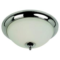 Seagull Lighting 2-Light 12'' Polished Nickel Fluorescent Ceiling Fixture
