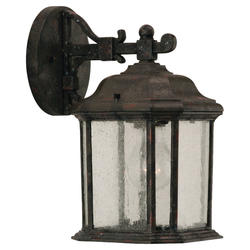 Seagull Lighting 1-Light 11'' Oxford Bronze Incandescent Outdoor Wall Lantern with Clear Beveled Glass