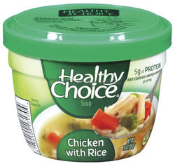 Healthy Choice Chicken with Rice Soup - 14-oz Microwave Bowl