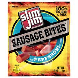 Slim Jim Pepperoni Sausage Bites - 4 oz
