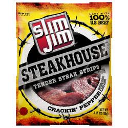 Slim Jim Steakhouse Crackin' Pepper Steak Strips - 3.15 oz