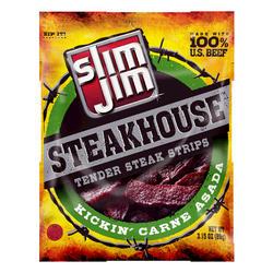 Slim Jim Steakhouse Kickin' Carne Asada Steak Strips - 3.15 oz