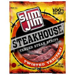 Slim Jim Steakhouse Twisted Teriyaki Steak Strips - 3.15 oz