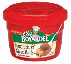 Chef Boyardee Spaghetti & Meatballs - 7.5-oz Microwave Bowl
