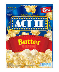 Act II Butter Microwave Popcorn - 6-pk