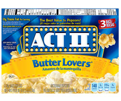 Act II Butter Lover's Microwave Popcorn - 3-pk