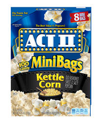 Act II 100-Calorie Butter Microwave Popcorn - 8 Mini Bags
