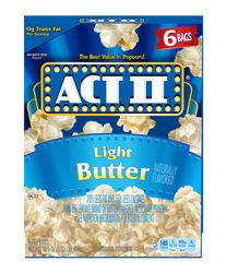 Act II Light Butter Microwave Popcorn - 6-pk