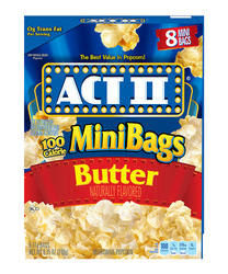 Act II 94% Fat Free Butter Microwave Popcorn - 8 Mini Bags