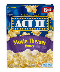 Act II Movie Theatre Butter Microwave Popcorn - 6-pk