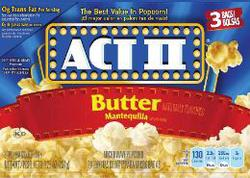 Act II Butter Microwave Popcorn - 3-pk