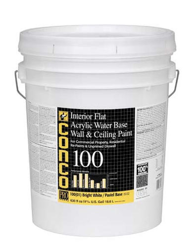 Conco 100 Flat Water Based Interior Acrylic Wall Ceiling Paint 5 Gal At Menards