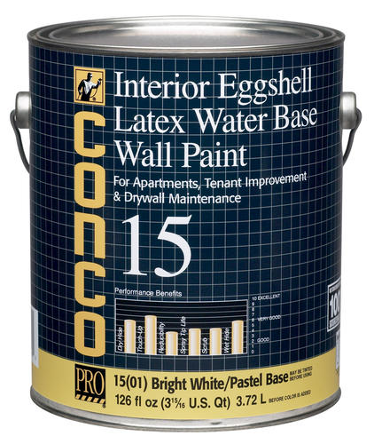 Conco 15 Flat Bright White Pastel Water Based Int Acrylic Wall Paint 1 Gal At Menards