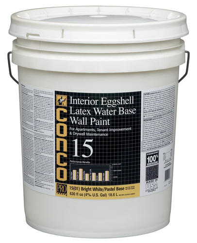 Conco 15 Flat Bright White Pastel Water Based Int Acrylic Wall Paint 5 Gal At Menards