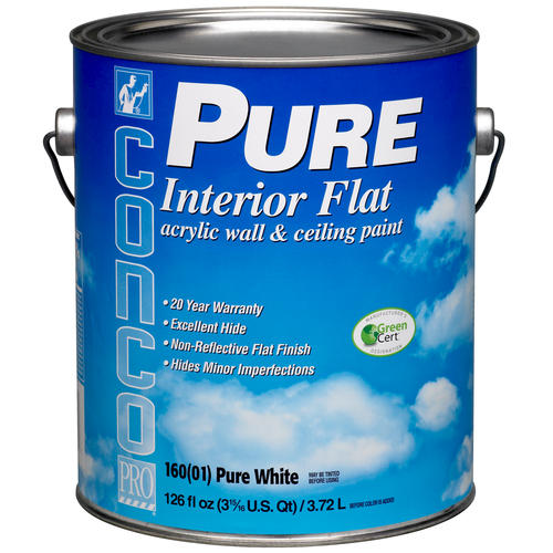 Acrylic Interior Paint: Conco PURE Flat Interior Acrylic Wall & Ceiling Paint