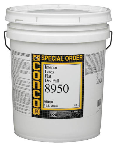 Conco 8950 Flat Interior Latex Dry Fall Paint