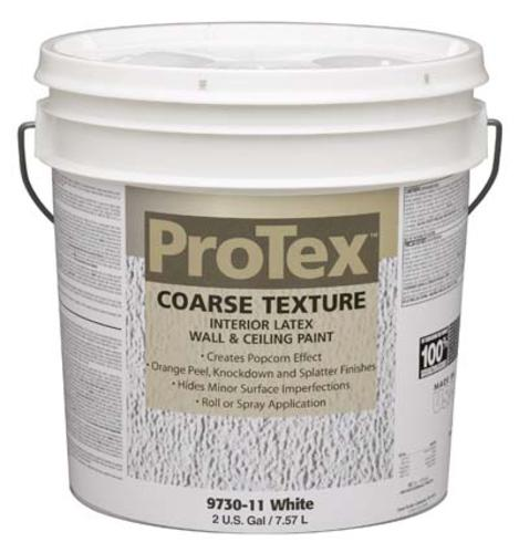 Protex White Coarse Texture Interior Latex Wall Ceiling Paint 2 Gal At Menards
