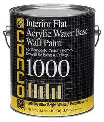 Conco 1000 Flat Water-Based Interior Acrylic Wall Paint - 1 gal.