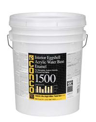 Conco 1500 Eggshell Bright White/Pastel Water-Based Interior Acrylic Enamel - 5 gal.