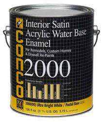 Conco 2000 Satin Water-Based Interior Acrylic Enamel - 1 gal.