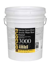 Conco 3000 Semi-Gloss Bright White/Pastel Water-Based Interior Acrylic Enamel - 5 gal.