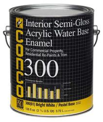 Conco 300 Semi-Gloss Water-Based Interior Acrylic Enamel - 1 gal.