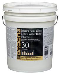 Conco 30 Semi-Gloss Bright White/Pastel Water-Based Interior Latex Enamel - 5 gal.